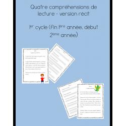 Quatre compréhension de lecture - 1er cycle