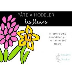 Pâte à modeler - les fleurs