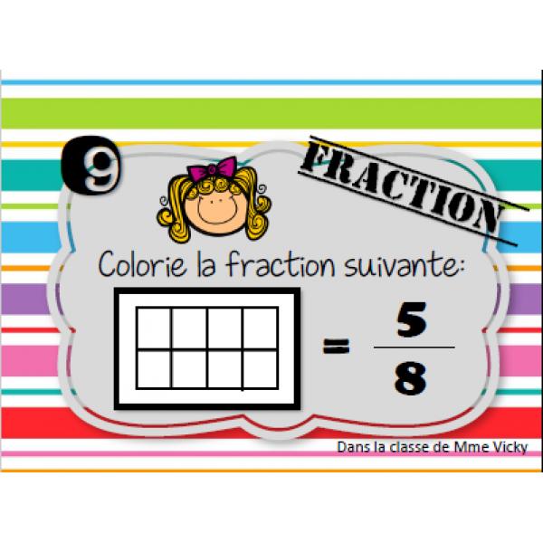Cartes à tâches: Les fractions