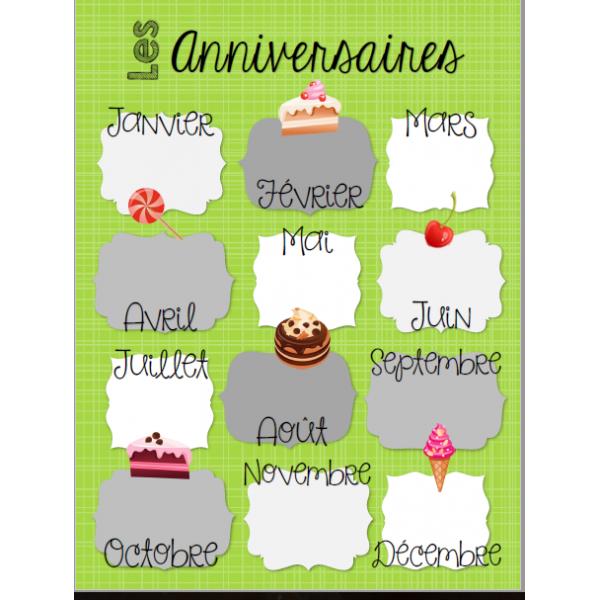Affiche anniversaires