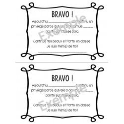 Certificat class Dojo