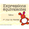 Expressions équivalentes - lapins 1er cycle