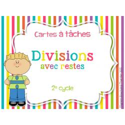 Cartes à tâches - Divisions avec restes
