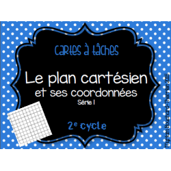 Bundle - Cartes à tâches - Plan cartésien
