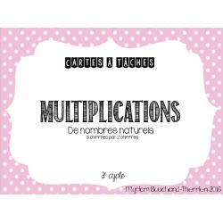 Cartes à tâches - Multiplications nbr naturels