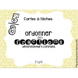 Cartes à tâches - Ordonner des fractions