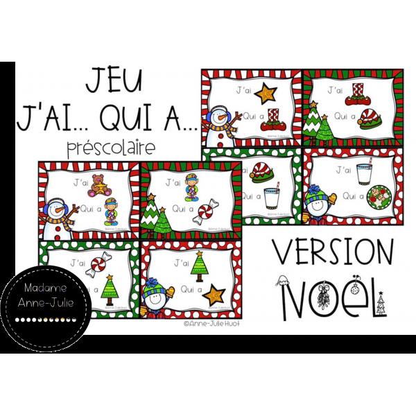 Jeu J'ai... Qui a... Version Noël