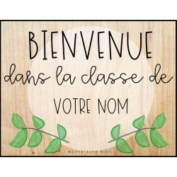 Affiche de classe - Simple et modifiable