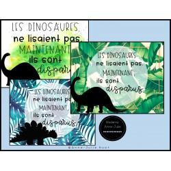 Affiche de classe - Coin lecture - Dinosaures