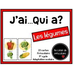 Jeu '' J'ai qui a ''  Les légumes