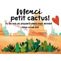 Merci - fin d'année - Cactus