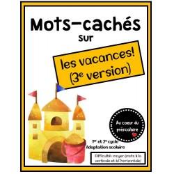 Mots-cachés : les vacances (V3)