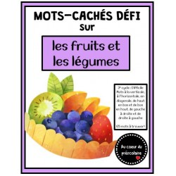 Mots-cachés : fruits et légumes, 3e cycle et +