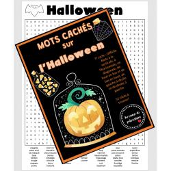 Mots cachés : Halloween - 3e cycle