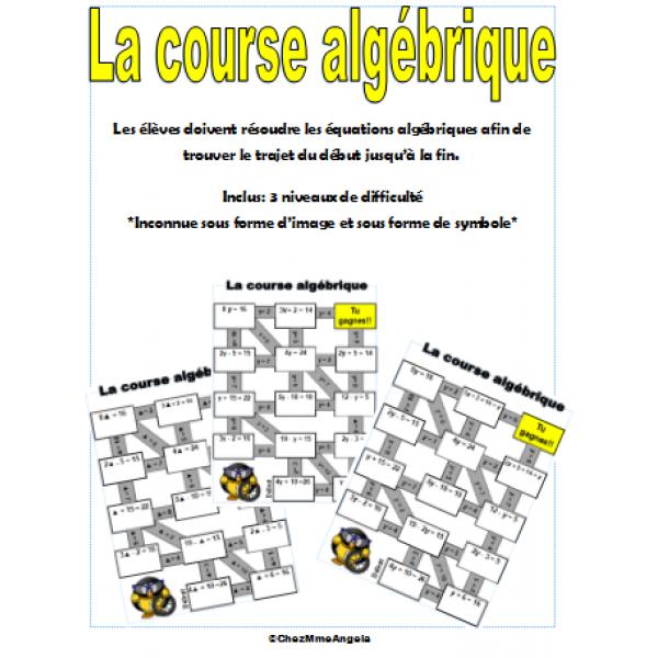 La course algébrique