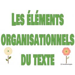 Les éléments organisationnels des textes