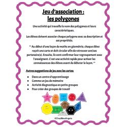Jeu d'association - Les polygones