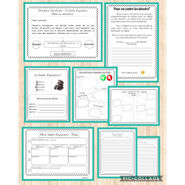 Situation écriture - Les devoirs pour ou contre!