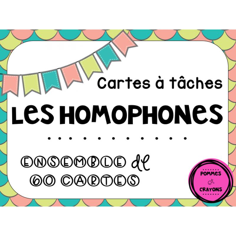 Cartes t ches les homophones for Dans homophone