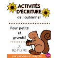 Activités d'écriture - L'automne!
