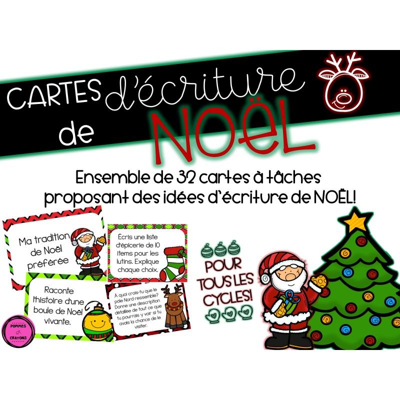 Ma Carte De Noel.Cartes D écriture Noël