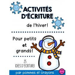 Activités d'écriture - L'hiver