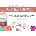 Cartes à tâches - Les fractions