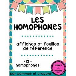 Homophones - Affiches et feuilles de référence