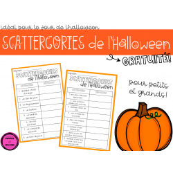 Scattergories de l'Halloween