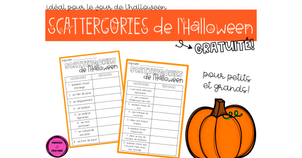 Scattergories De L Halloween