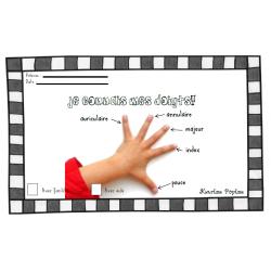 Diplôme du noms des doigts