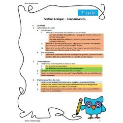 Progression des apprentissages - cycle 2