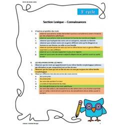 Progression des apprentissages - cycle 3