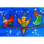 Oiseau perché, arts plastiques