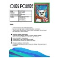 Noël: Ours polaire, arts plastiques
