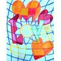 St-Valentin: Coeurs et carreaux