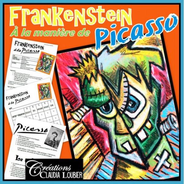 Frankenstein à la manière de Picasso