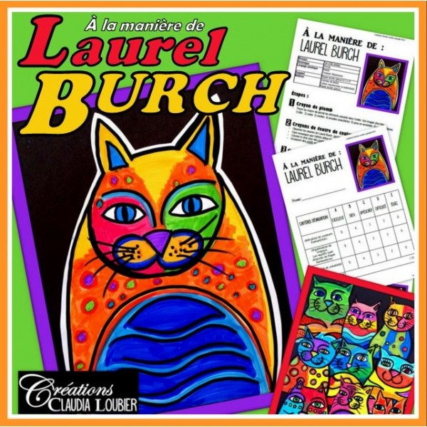 Chats à la manière de Laurel Burch  - Arts