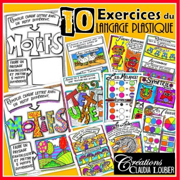 10 exercices: langage plastique des arts