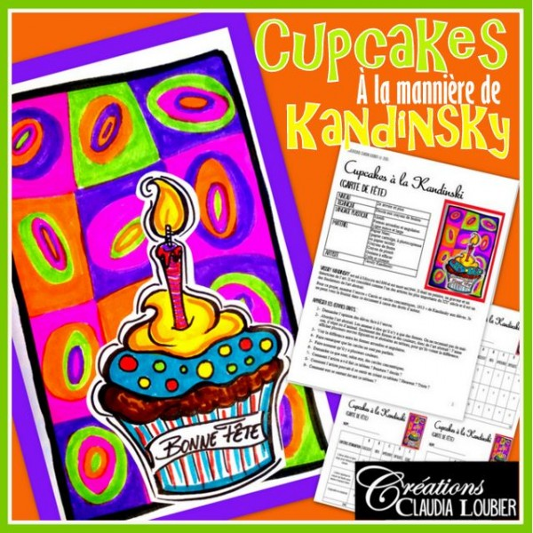 Carte de fête à la manière de Kandinsky