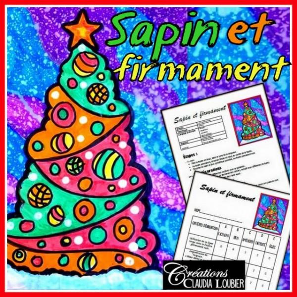 Noël: Sapin et firmament, arts plastiques