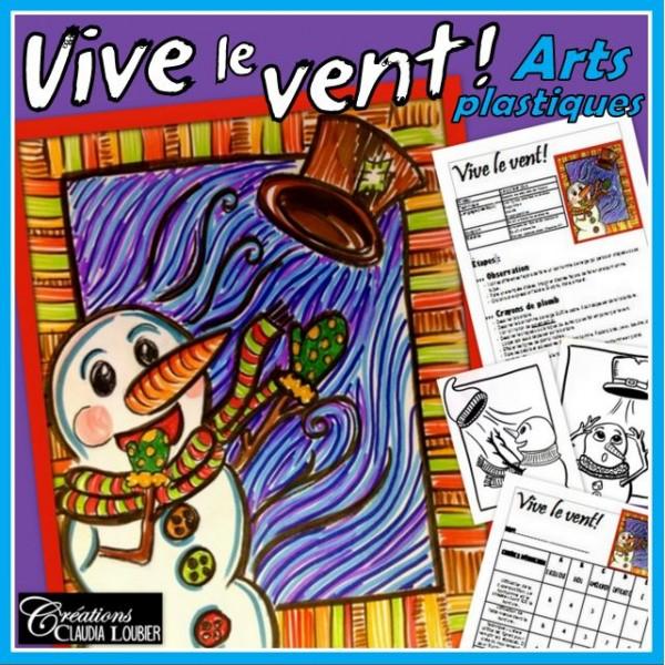 Hiver: Vive le vent ! Arts plastiques