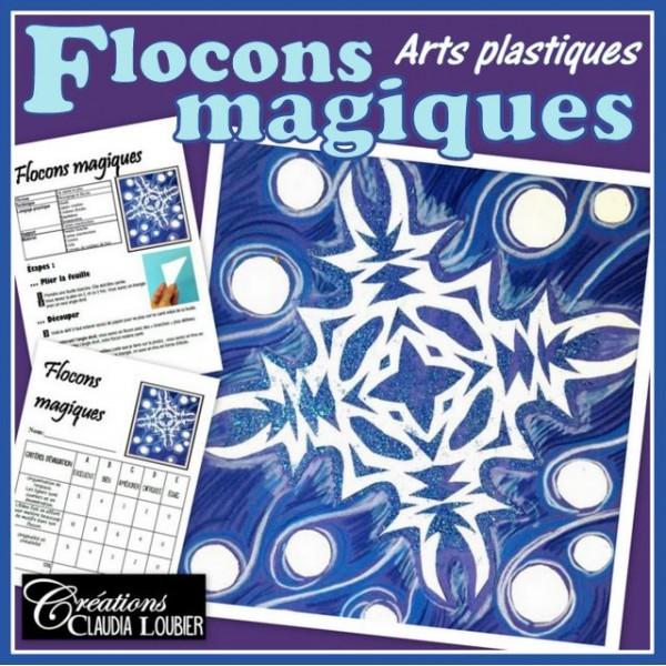 Flocons magiques: arts plastiques