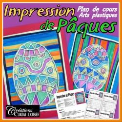 Pâques: Impression stiromousse, arts