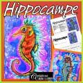 Hippocampe - Arts plastiques, encre soufflée