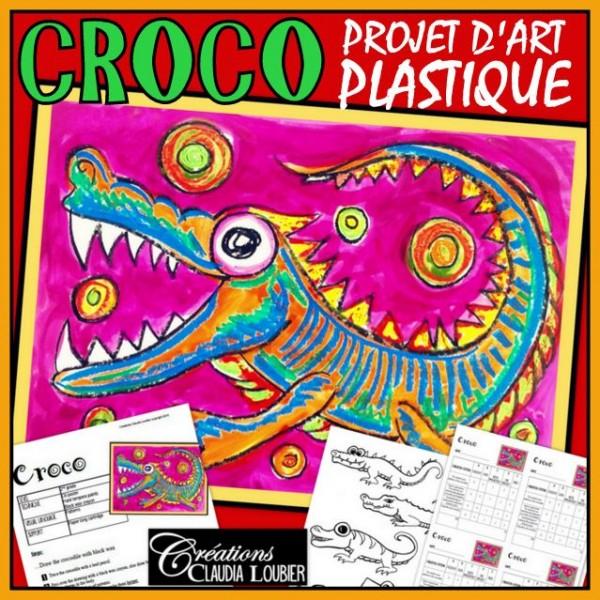 Croco : projet d'arts plastiques aux pastels