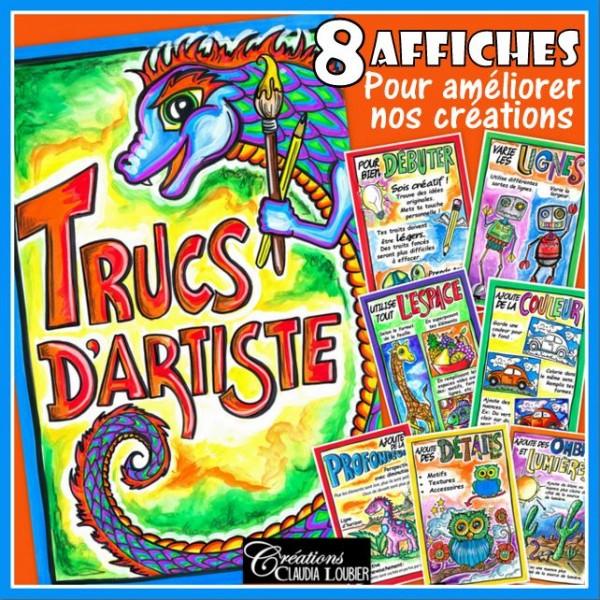 Trucs d'artiste : Affiches arts plastiques