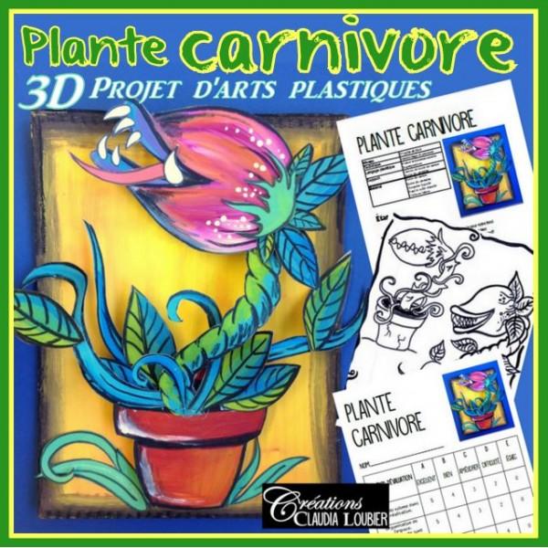 Printemps: Plante carnivore, arts 3D