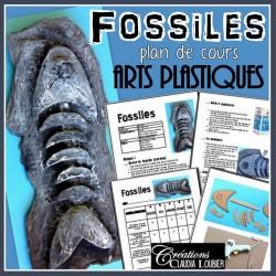 Fossiles - projet d'arts plastiques 3D