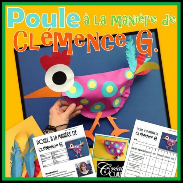 Pâques: Poule en 3D à la Clémence G.